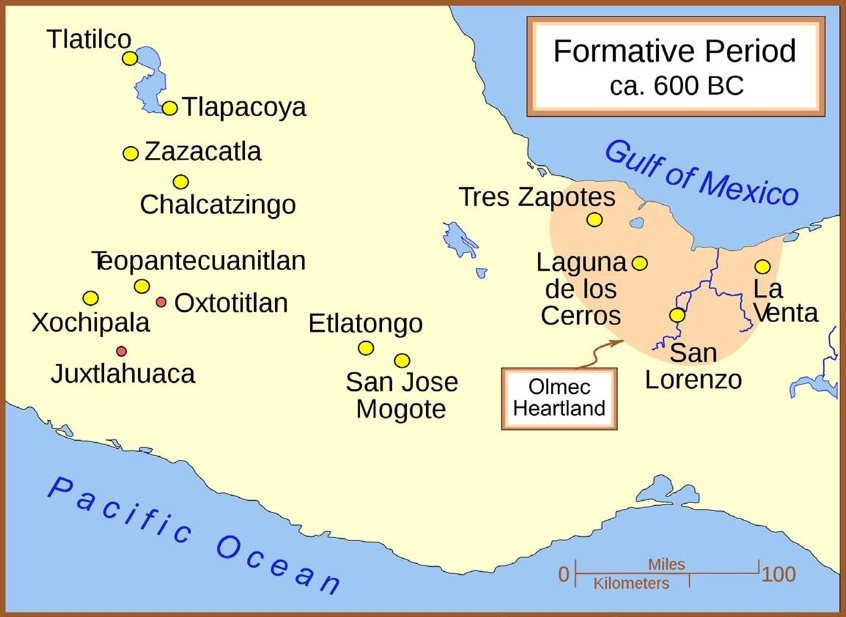 Map of the Formative Era Sites, c. 600 BCE