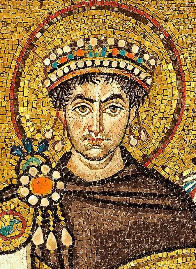 Mosaic of Justinianus I from the Basilica San Vitale