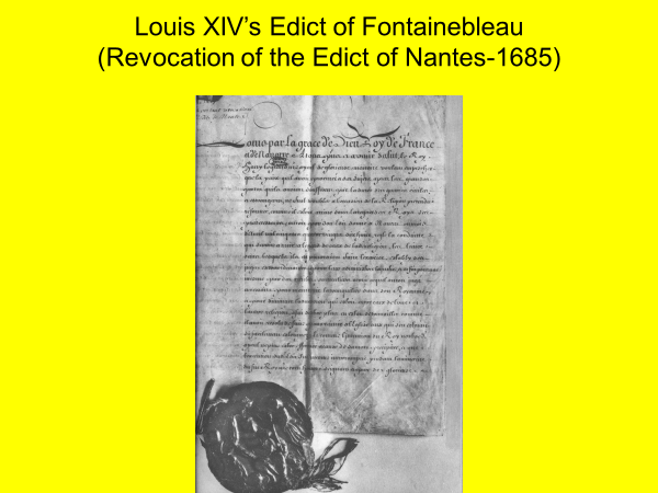 louis the 14ths edict of fontainebleau revocation of the edict of nantes