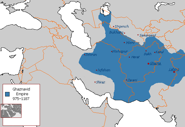 Map of The Ghaznavid Empire at its height