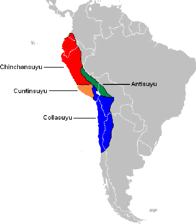 Map of the Four Suyus of the Inca Empire