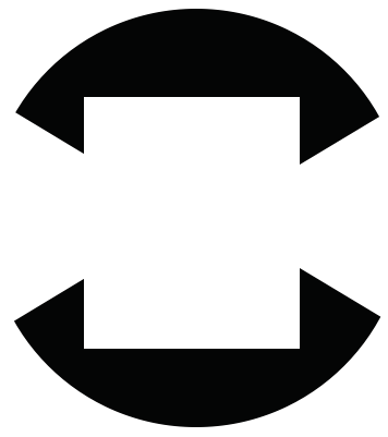 Square inside a circle, demonstration of implied lines
