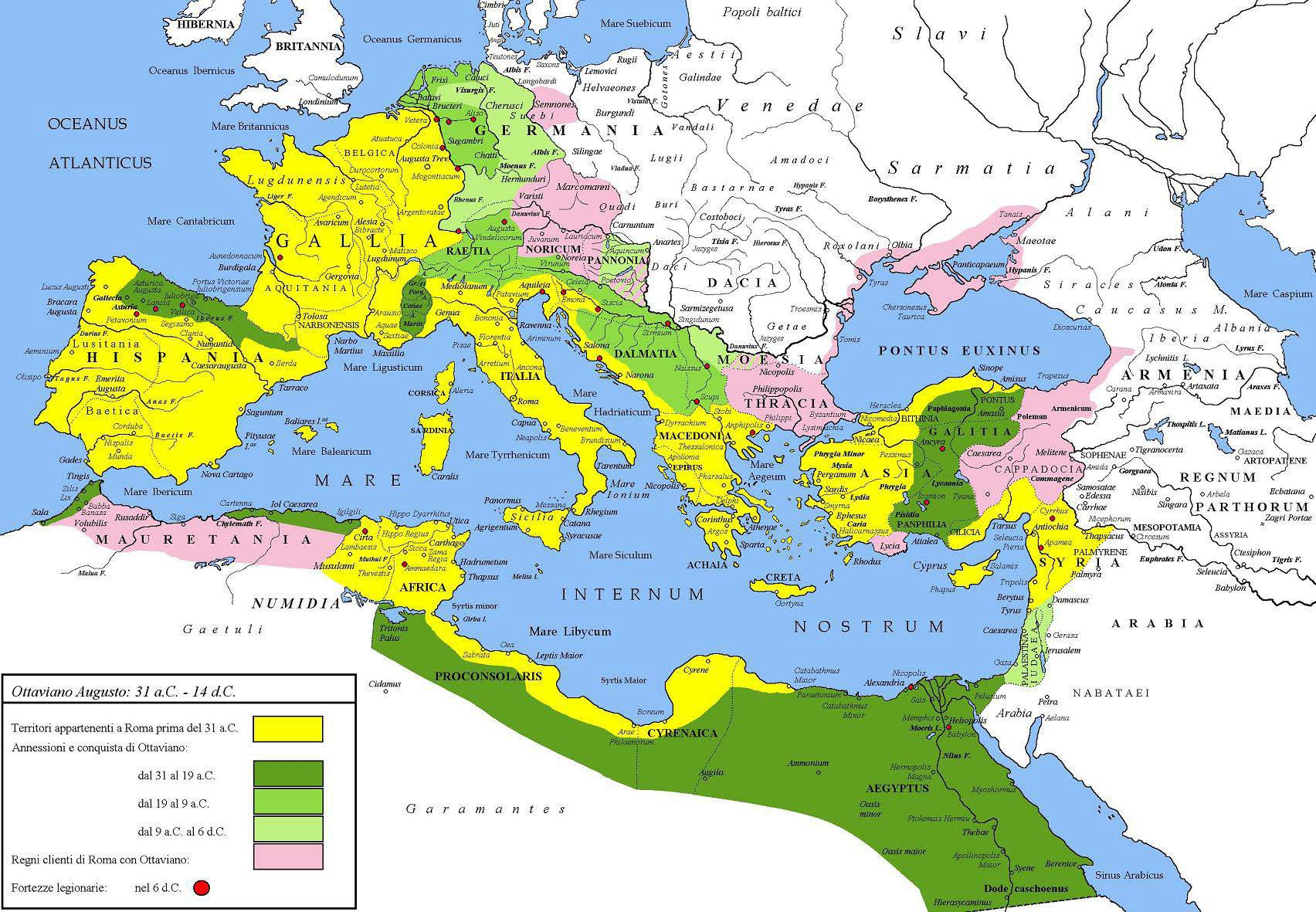 Map of Roman Provinces in the Late First Century BCE and Early First Century CE