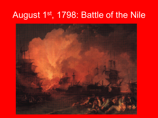 august 1st 1798 battle of the nile