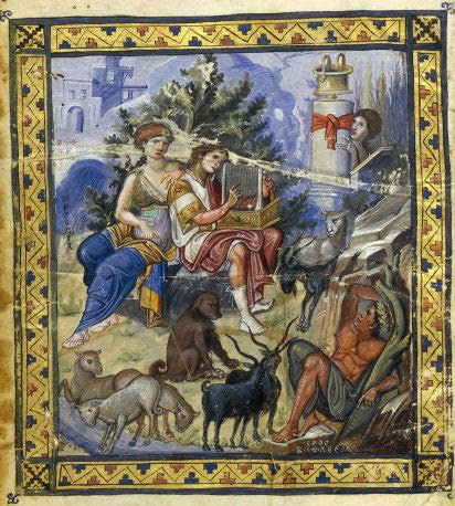 Picture from a Byzantine Greek manuscript written during the Macedonian Renaissance