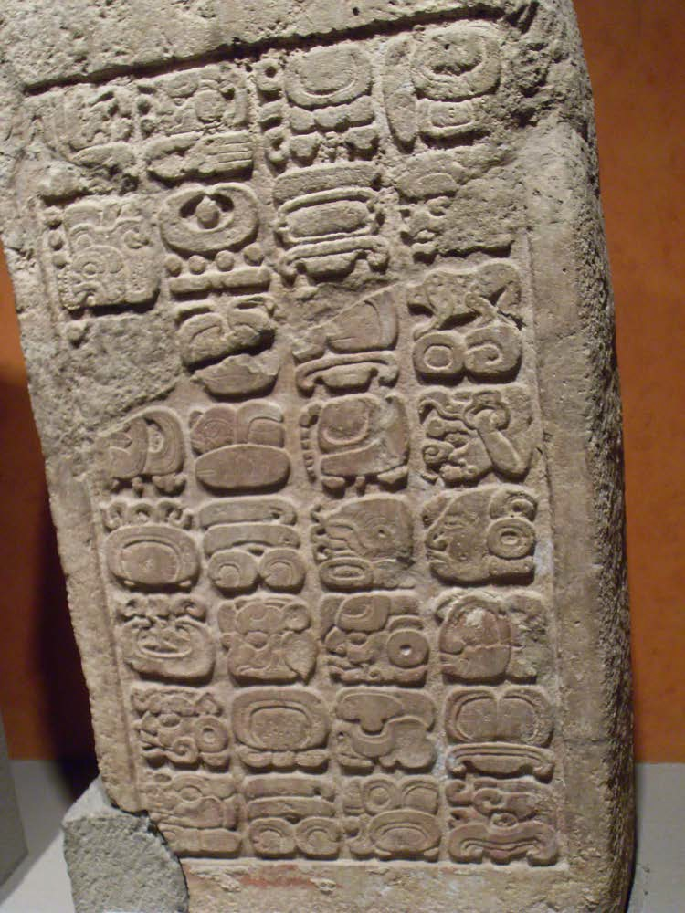 Stela with Mayan Script