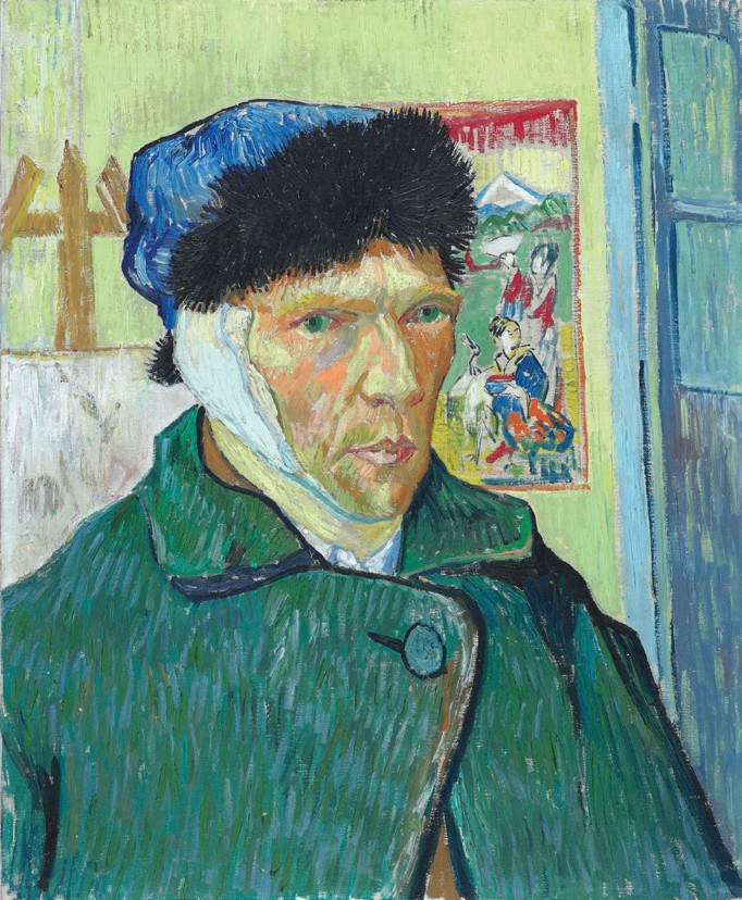 Self-portrait with a bandaged ear, Vincent van Gogh