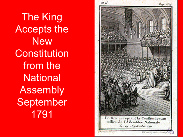 the king accepts the new constitution from the national assembly september 1791