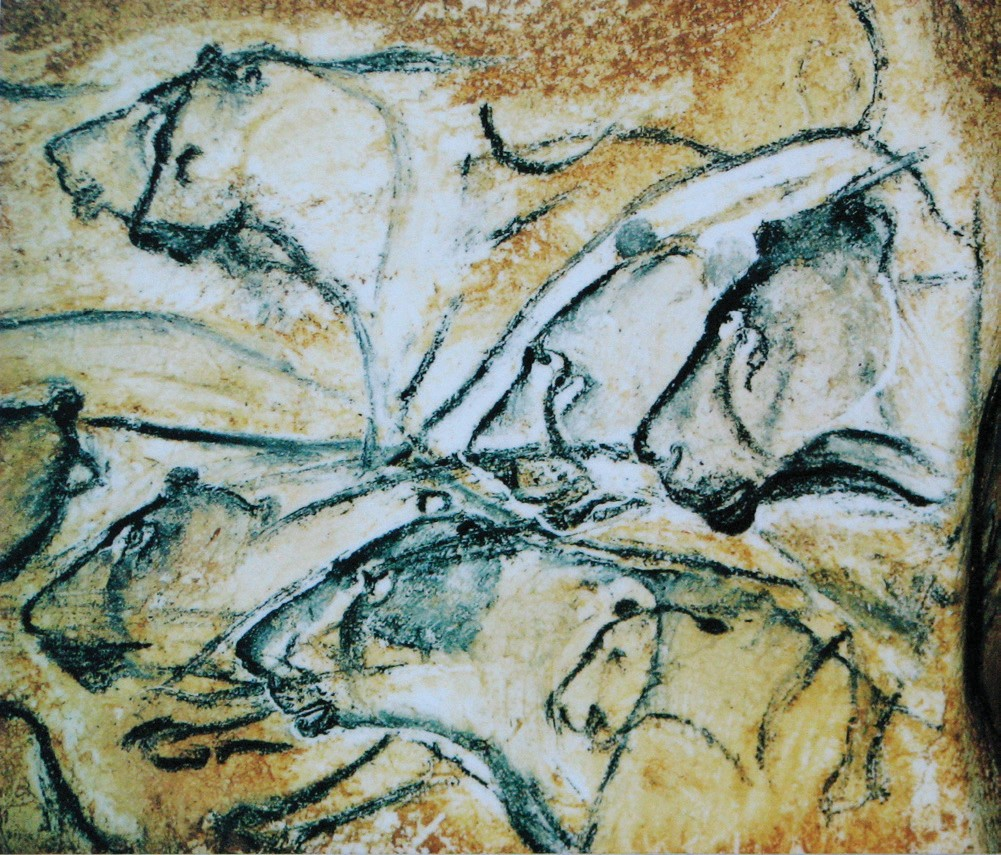 Replication of Chauvet Cave Lion Wall