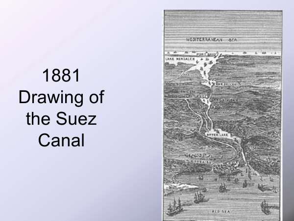drawing of the suez canal