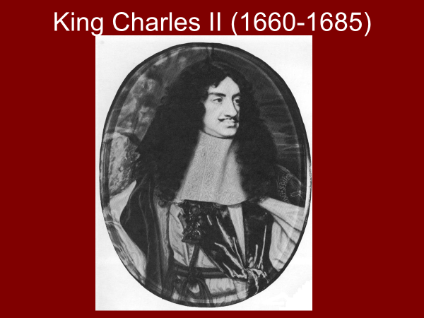 king charles the second