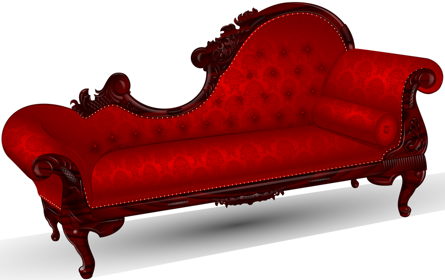 a red couch