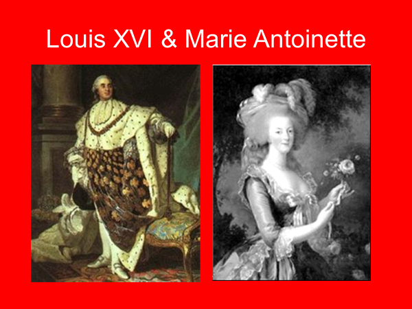 louis the 16th and marie antoinette