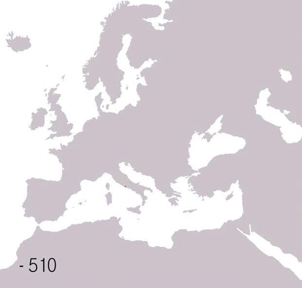 Interactive Map Showing Stages of Roman Expansion in the Republic and Empire
