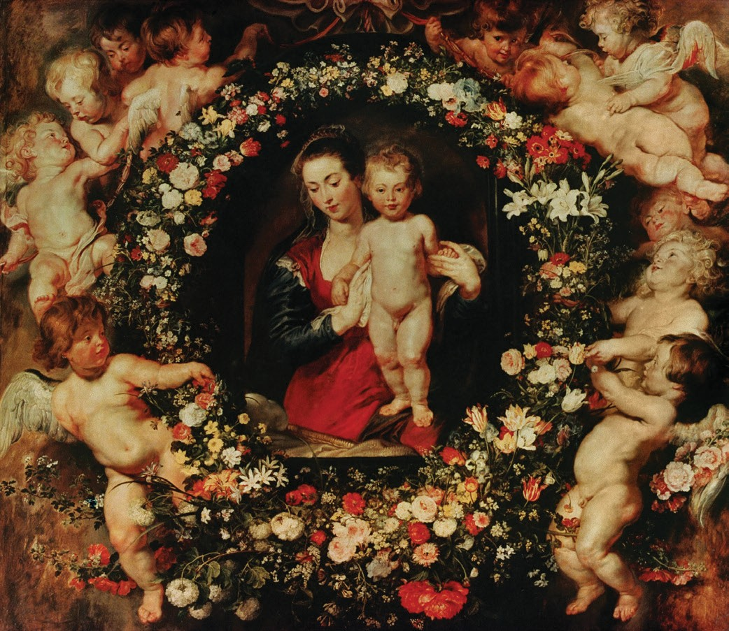 Madonna in a Garland of Flowers