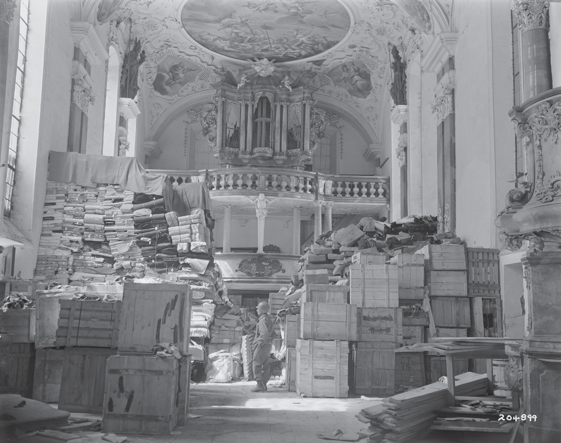 German loot stored at Schlosskirche Ellingen