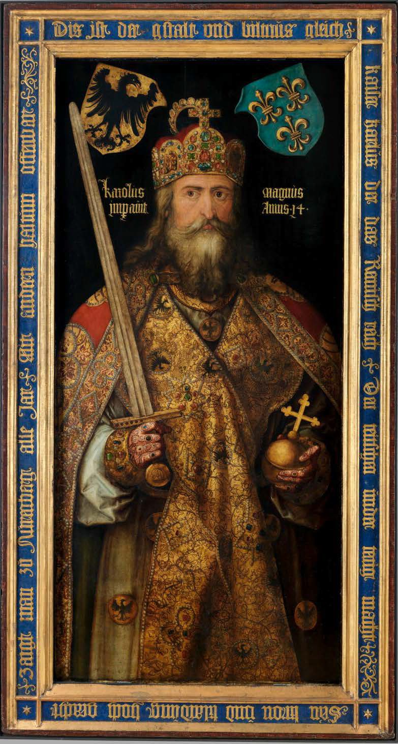 Painting of Charlemagne