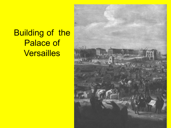 building of the palace of versailles