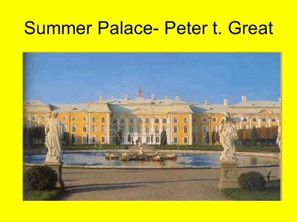 summer palace peter t great