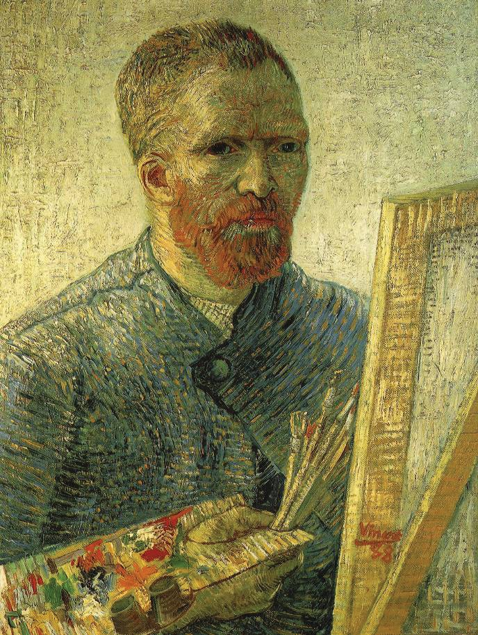 Self-portrait as a painter, Vincent van Gogh
