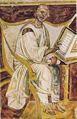 Fresco Painting of Augustine, Sixth Century CE
